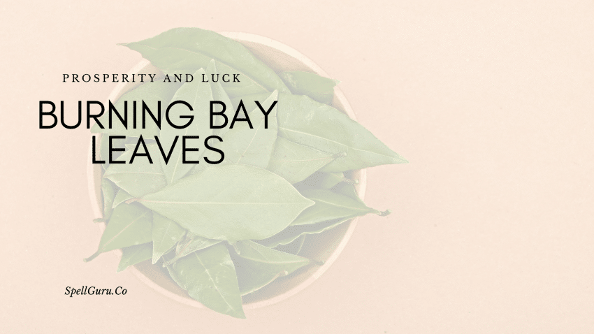 Burning Bay Leaves for Prosperity and Luck
