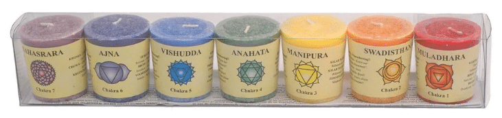 chakra candles pack