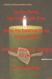 Green candle money spell incantation