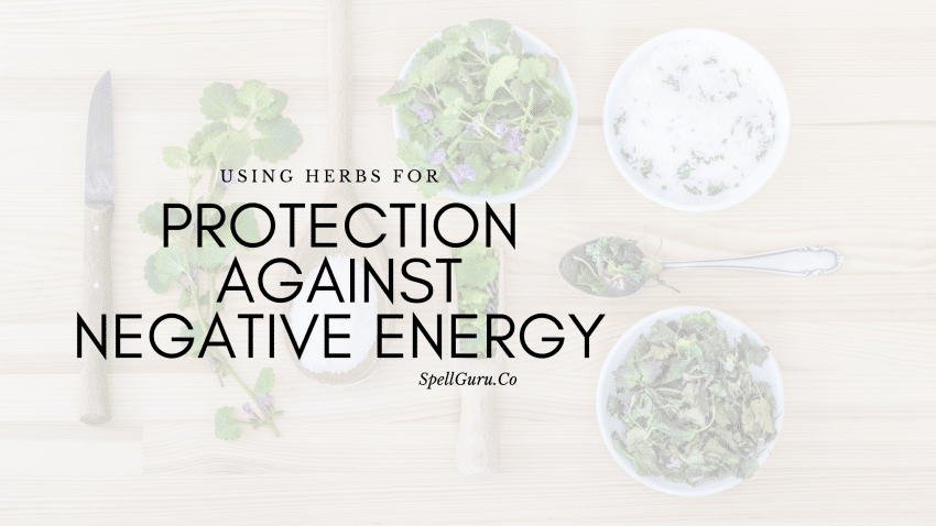 Herbs for protection against negative energy