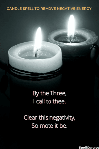candle spell to remove negative energy