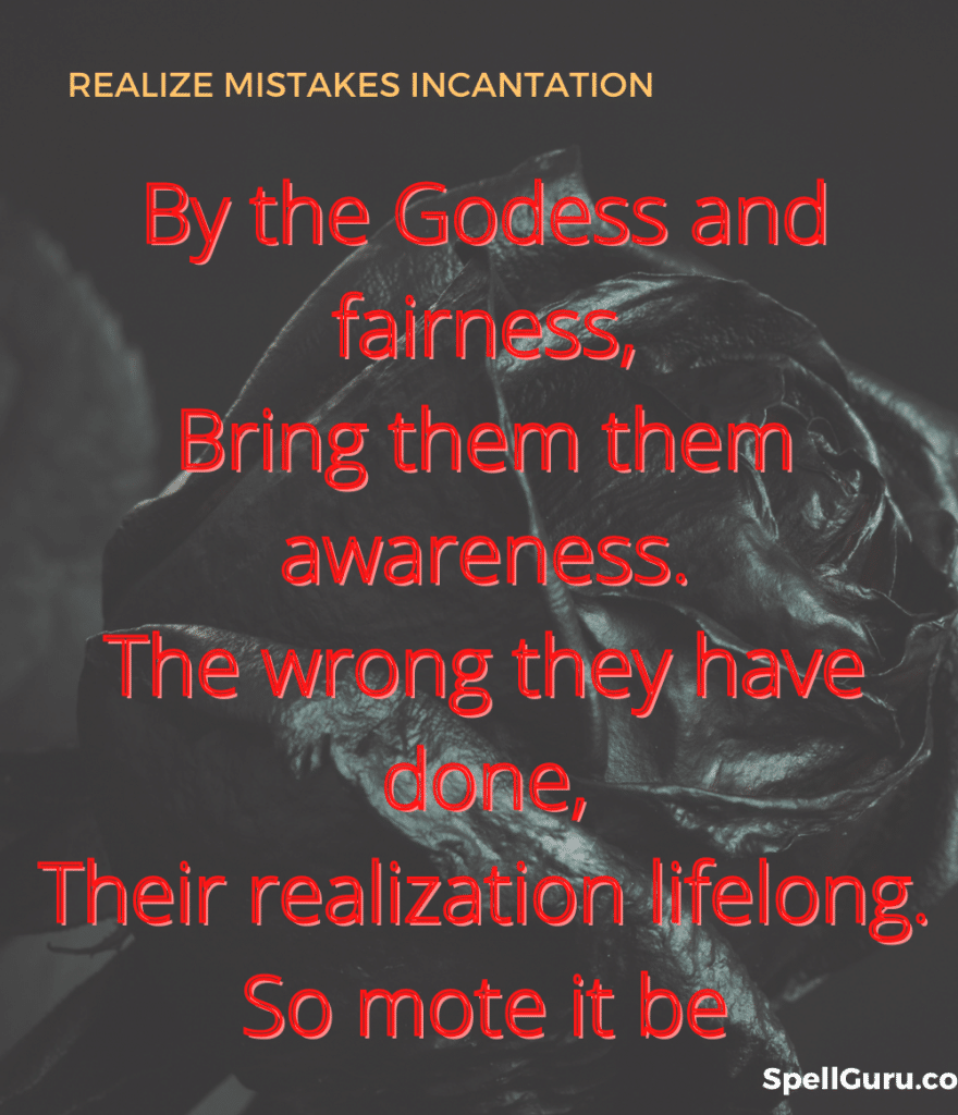 realize their mistakes spell