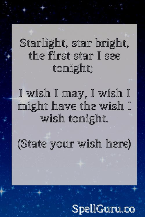 Wish spell incantation
